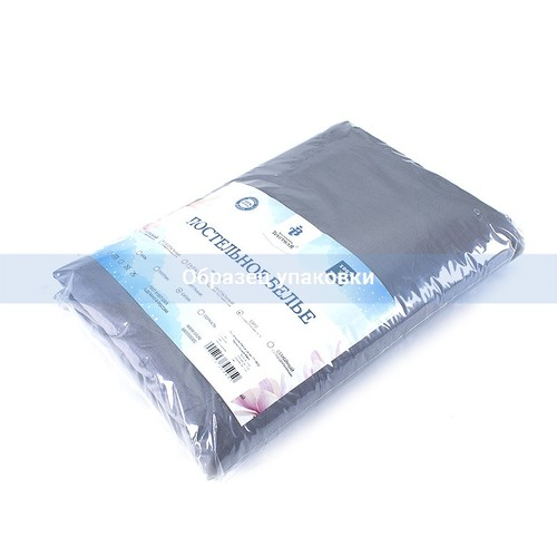 Постельное белье из сатина 17-1502 Темно-серый 1.5 сп с 1-ой нав. 70/70 фото 2