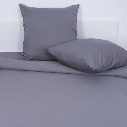 Постельное белье из сатина 17-1502 Темно-серый 1.5 сп с 1-ой нав. 70/70 фото 1