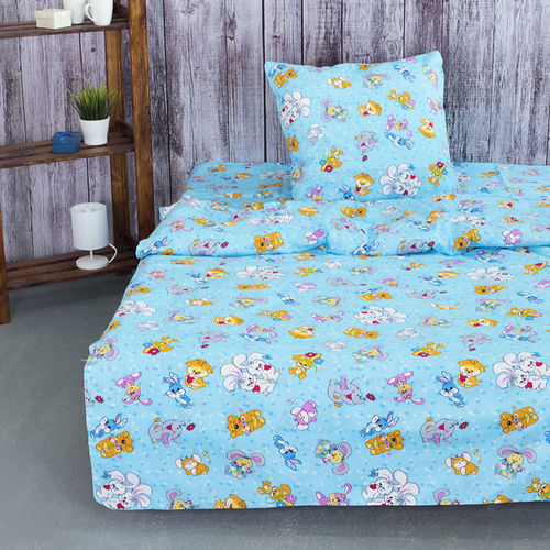 Детское постельное белье из бязи 1.5 сп 4605/1 Солнца лучик золотой голубой фото 1