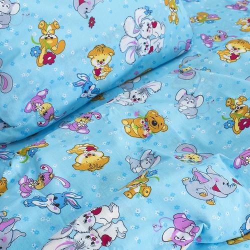 Детское постельное белье из бязи 1.5 сп 4605/1 Солнца лучик золотой голубой фото 2