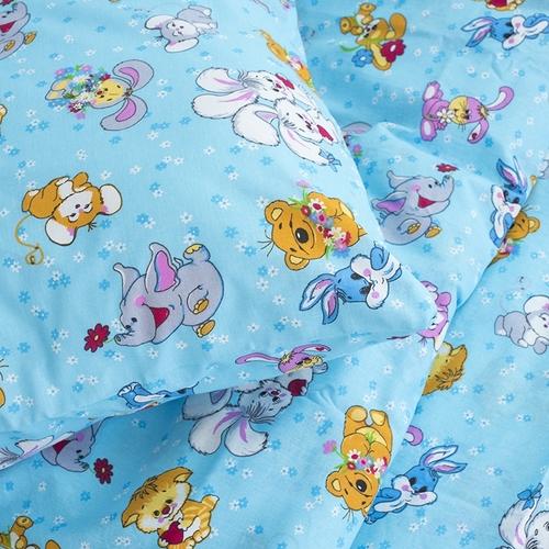 Детское постельное белье из бязи 1.5 сп 4605/1 Солнца лучик золотой голубой фото 4