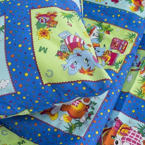 Детское постельное белье из бязи 1.5 сп 8088/1 Веселые картинки синий фото 4
