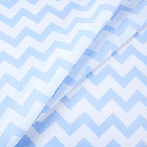 Мерный лоскут бязь плательная 1692 цвет голубой фото 1
