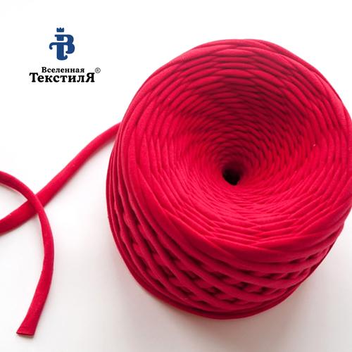 Трикотажная пряжа цвет красный фото 1
