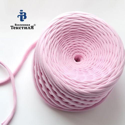 Трикотажная пряжа цвет розовый фото 1