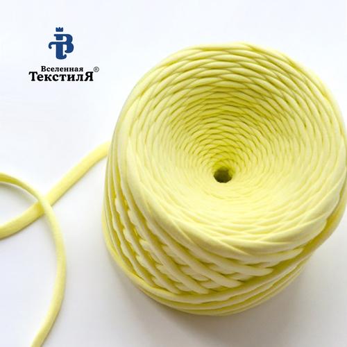 Трикотажная пряжа цвет лимонный фото 1