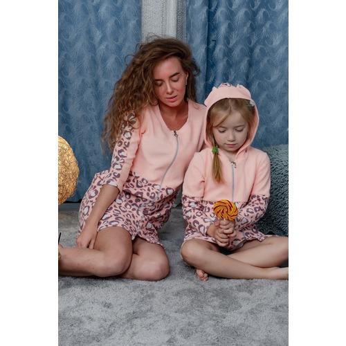 Халат 8000 цвет персиковый р 46 фото 11