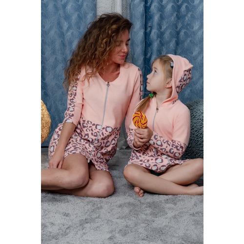 Халат 8000 цвет персиковый р 46 фото 9