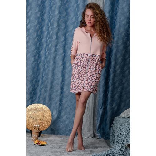 Халат 8000 цвет персиковый р 46 фото 7
