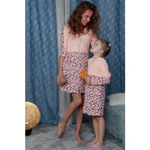 Халат 8000 цвет персиковый р 52 фото 9