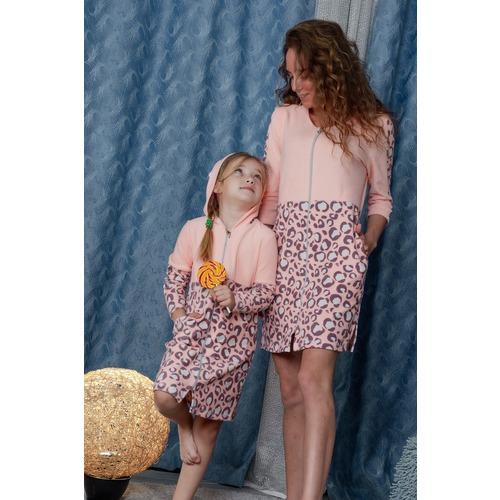 Халат 8000 цвет персиковый р 52 фото 5