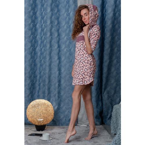 Халат 8002 цвет персиковый р 48 фото 4