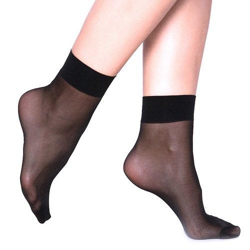 Женские капроновые носки 8673 чёрные фото 1