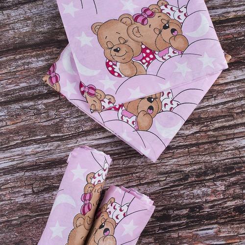 Детская пеленка бязь 73/120 см 1286/2 Соня розовый фото 1