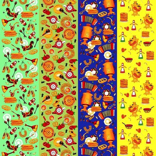 Вафельное полотно набивное 150 см 1225/1 Масленица фото 1