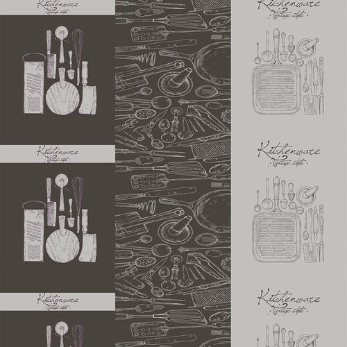 Вафельное полотно набивное 150 см 1364/1 Кухня Loft фото 1