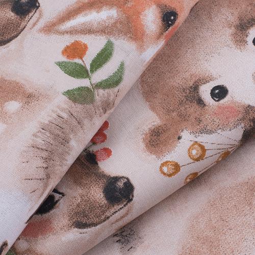 Ткань на отрез бязь премиум ГОСТ детская 150 см 13206/1 Маленькие зверята фото 3
