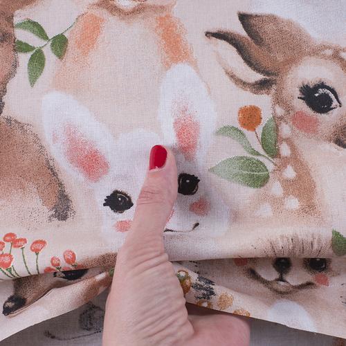 Ткань на отрез бязь премиум ГОСТ детская 150 см 13206/1 Маленькие зверята фото 4