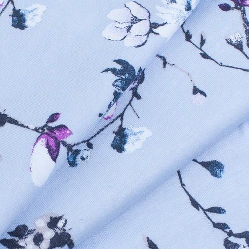Маломеры кулирка карде Цветы на голубом R6078-V4 2.2 м фото 3
