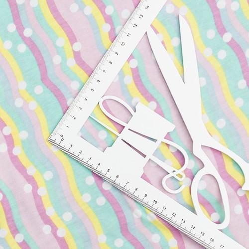 Ткань на отрез кулирка карде Радуга R327 фото 2