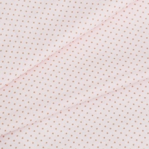 Ткань на отрез кулирка пенье Пшено по выкрасам R165 цвет розовый фото 1