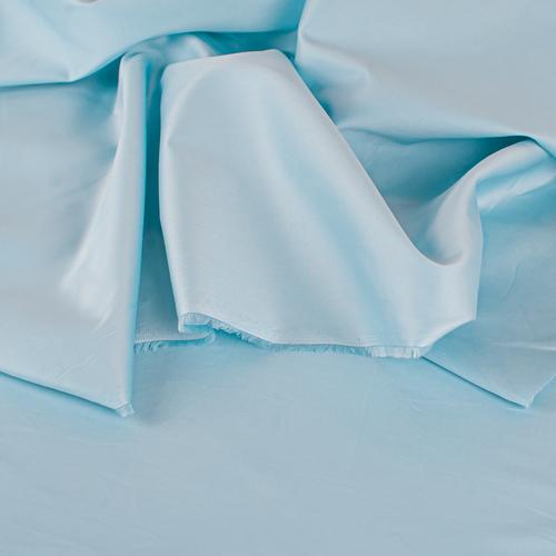 Ткань на отрез сатин гладкокрашеный 220 см 50S 628 голубой фото 3
