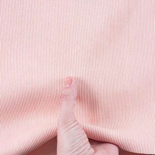 Ткань на отрез кашкорсе 3-х нитка с лайкрой цвет персиковый фото 2