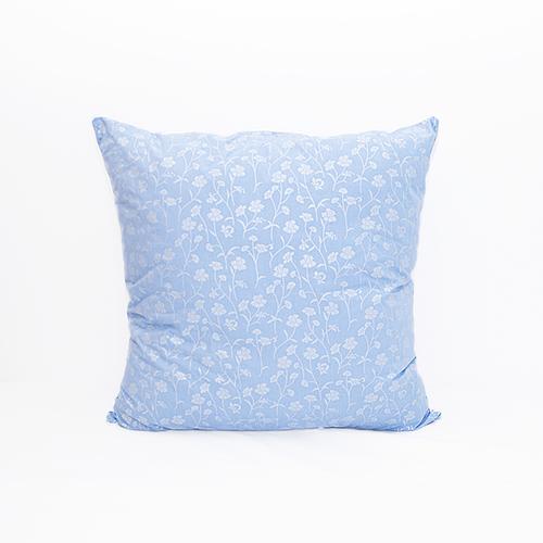 Подушка Лебяжий пух 215 Ромашки цвет голубой серебро 70/70 фото 1