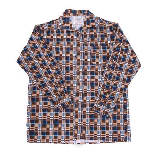 Рубашка мужская фланель клетка 52-54 цвет коричневый модель 2 фото 1