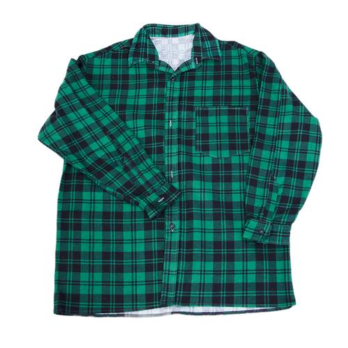 Рубашка мужская фланель клетка 48-50 цвет зеленый фото 1
