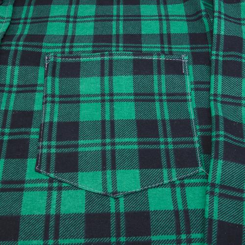 Рубашка мужская фланель клетка 48-50 цвет зеленый фото 3