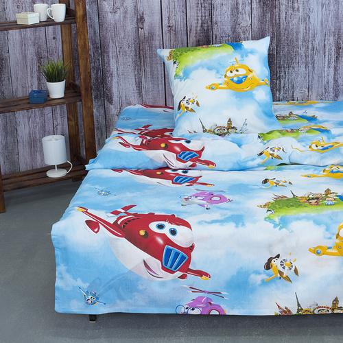 Детское постельное белье из бязи 1.5 сп 10645/1 Воздушный патруль фото 1