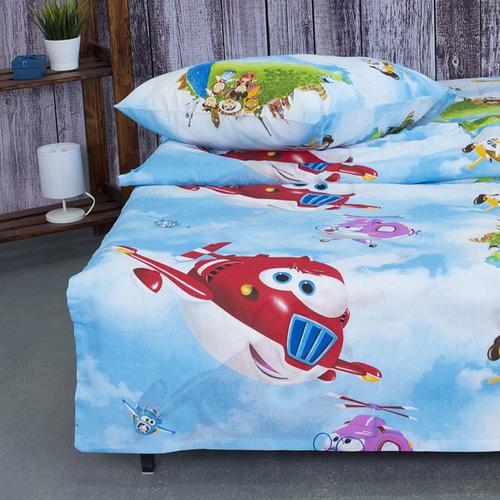 Детское постельное белье из бязи 1.5 сп 10645/1 Воздушный патруль фото 2