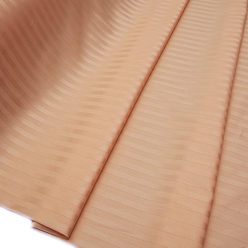 Страйп сатин полоса 1х1 см 220 см 135 гр/м2 цвет 113 персиковый фото 2