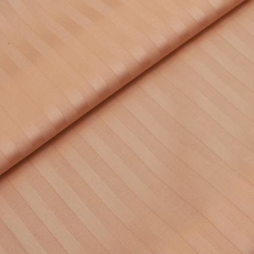 Страйп сатин полоса 1х1 см 220 см 135 гр/м2 цвет 113 персиковый фото 1