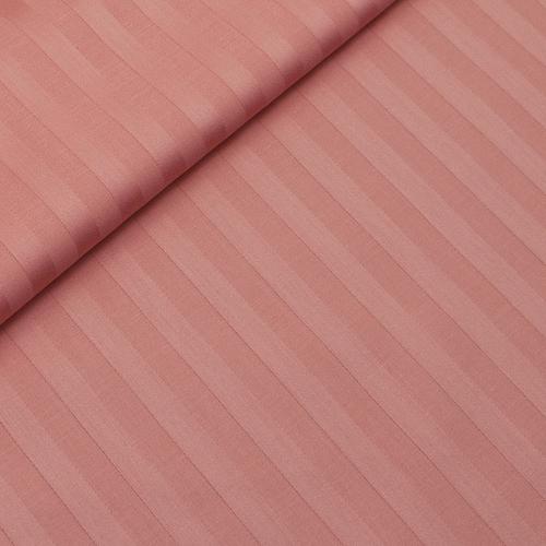 Страйп сатин полоса 1х1 см 220 см 135 гр/м2 цвет 129 коралловый фото 1