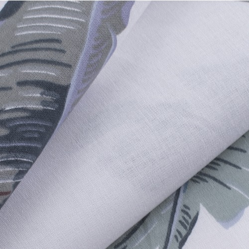 Ткань на отрез поплин 220 см 115 г/м2 28293/2 Эдем серый фото 3