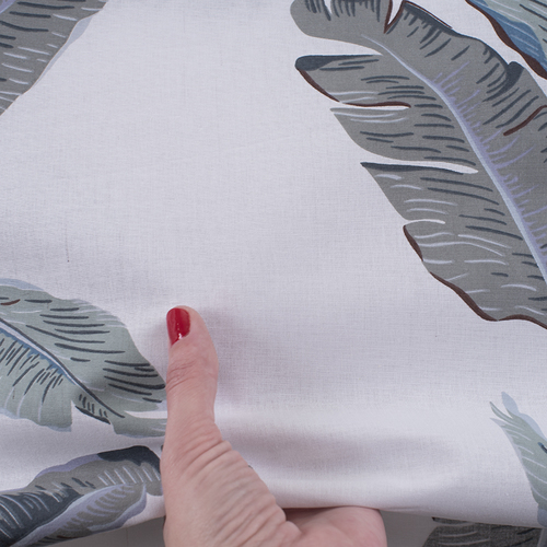 Ткань на отрез поплин 220 см 115 г/м2 28293/2 Эдем серый фото 4