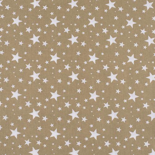 Ткань на отрез поплин 150 см 433/28 Звездочка цвет золото фото 1