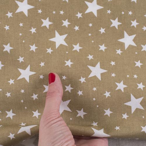 Ткань на отрез поплин 150 см 433/28 Звездочка цвет золото фото 4