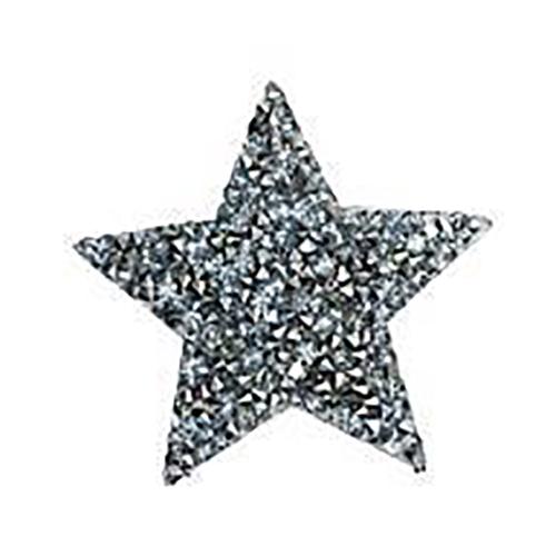 Термоаппликация ТАС 154 звезда серебро 5см фото 1