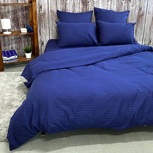 Наволочка страйп-сатин полоса 1х1 120 гр/м2 191/2 цвет синий в упаковке 2 шт 70/70 фото 2