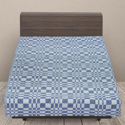 Одеяло байковое детское 100/140 цвет синий фото 1