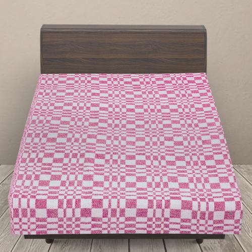 Одеяло байковое детское 100/140 цвет розовый фото 1