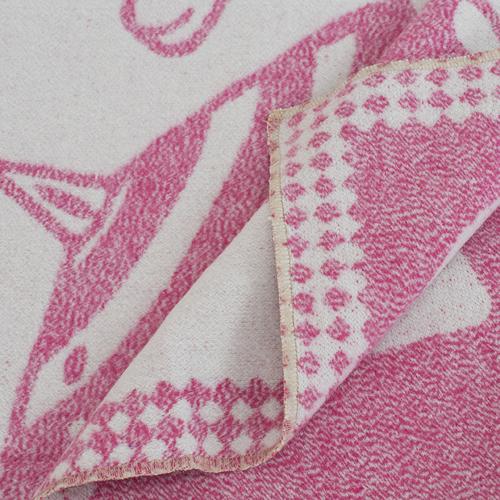 Одеяло детское байковое жаккардовое 100/140 см коты цвет розовый фото 3