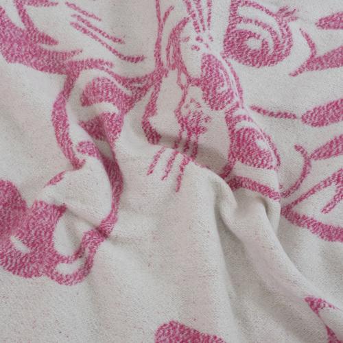 Одеяло детское байковое жаккардовое 100/140 см коты цвет розовый фото 2