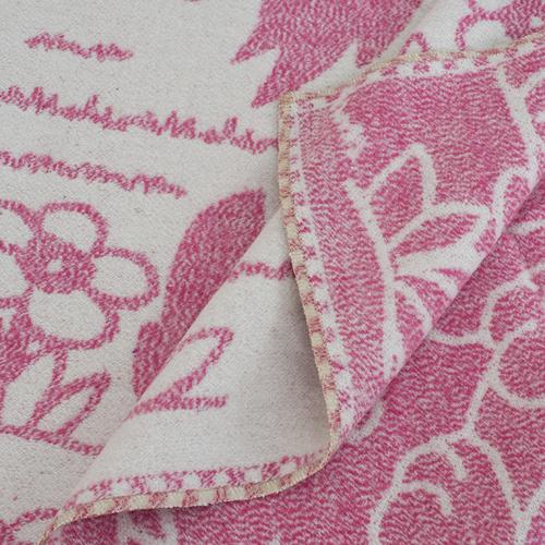 Одеяло детское байковое жаккардовое 100/140 см щенки цвет розовый фото 2