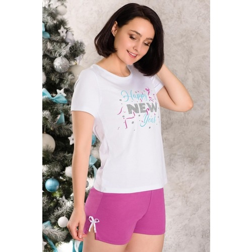 Костюм футболка+шорты 0776 цвет Лиловый р 46 фото 1