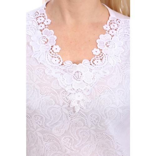 Блузка Агния 11320 белая р 46 фото 3