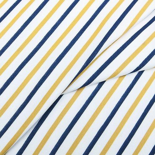 Ткань на отрез интерлок пенье Двухцветная полоска 58-18 фото 2